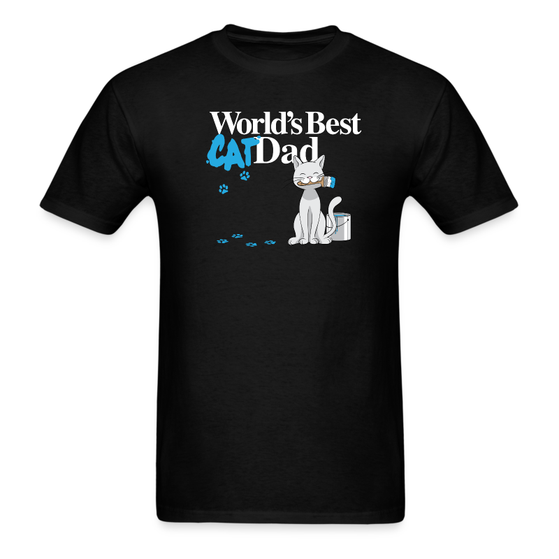 World's Best Cat Dad - Men's T-Shirt