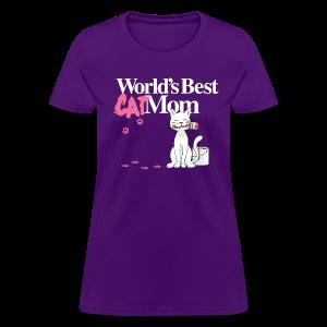 World's Best Cat Mom - Women's T-Shirt