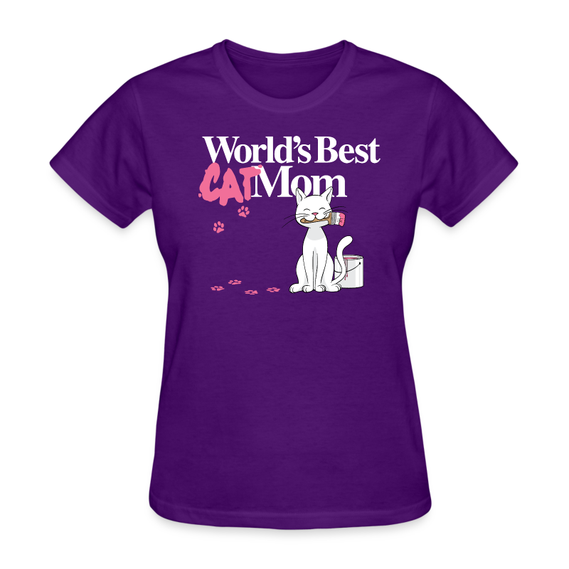 World's Best Cat Mom - Women's T-Shirt