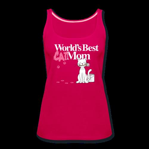 World's Best Cat Mom - Women's Premium Tank Top