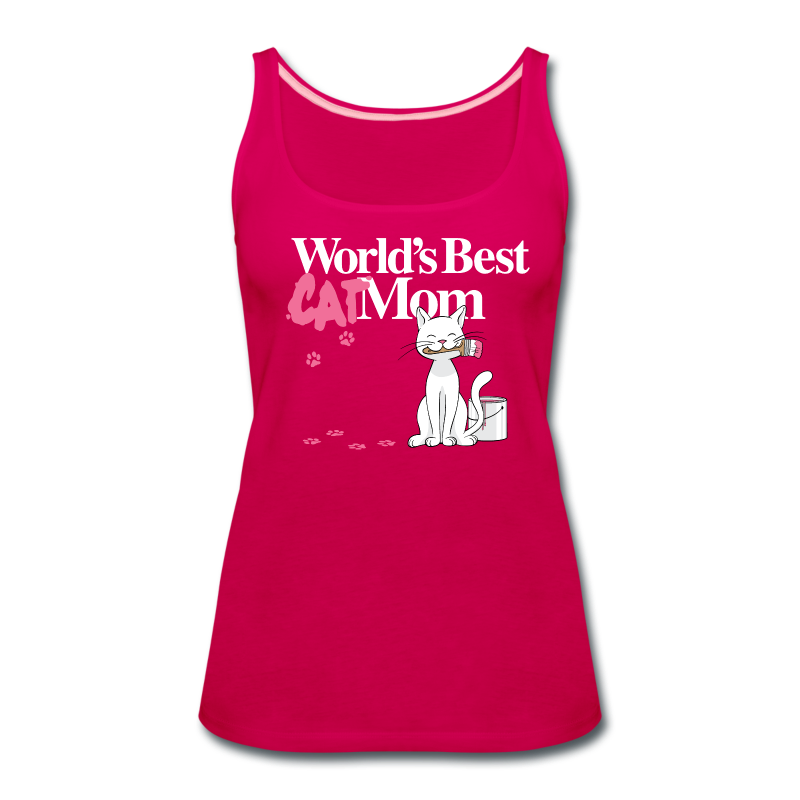 World's Best Cat Mom - Women's Premium Tank Top