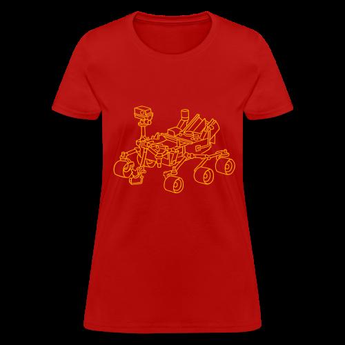 Curiosity, the Marsrover - Women's T-Shirt