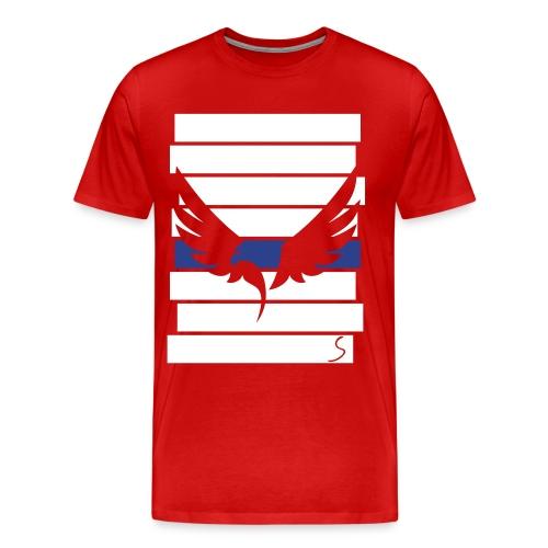 Eagle over stripes - Men's Premium T-Shirt