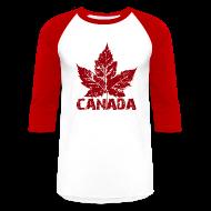 T-Shirts ~ Baseball T-Shirt ~ Cool Canada Souvenir Jersey Men's Retro Canada Shirt