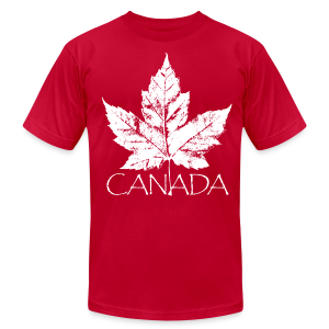 Cool Canada Souvenir T-shirt Men's Retro Canada T-shirt - Men's T-Shirt by American Apparel