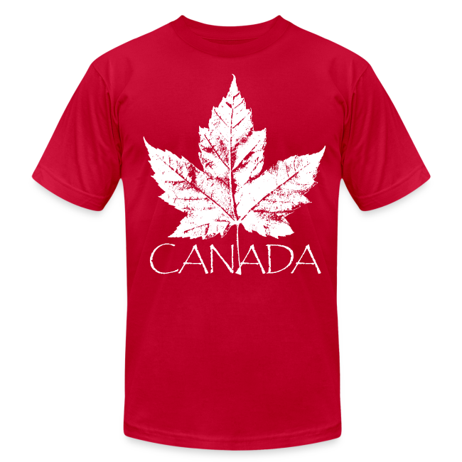 Cool Canada Souvenir T-shirt Men's Retro Canada T-shirt