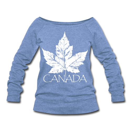 Cool Canada Souvenir Shirt Retro Canada Sweatshirt - Women's Wideneck Sweatshirt