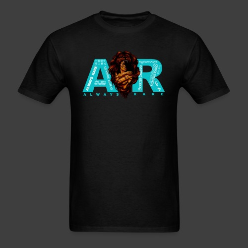 Teal & Black Always Rare Languages T-Shirt - Men's T-Shirt