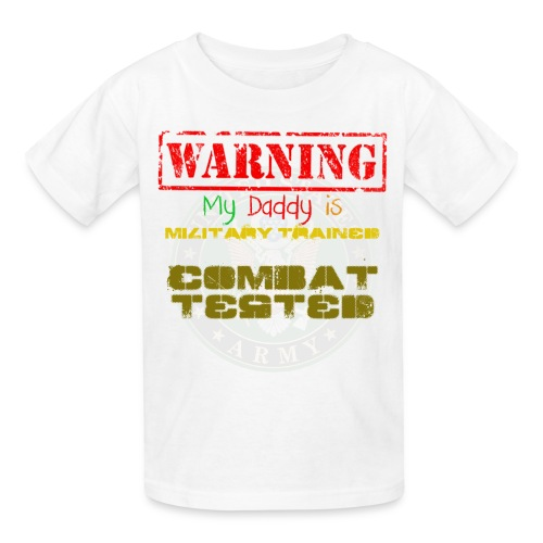 Kids' T-Shirt - MILITARY TRAINED,MILITARY,MARINES,COMBAT TESTED,COMBAT