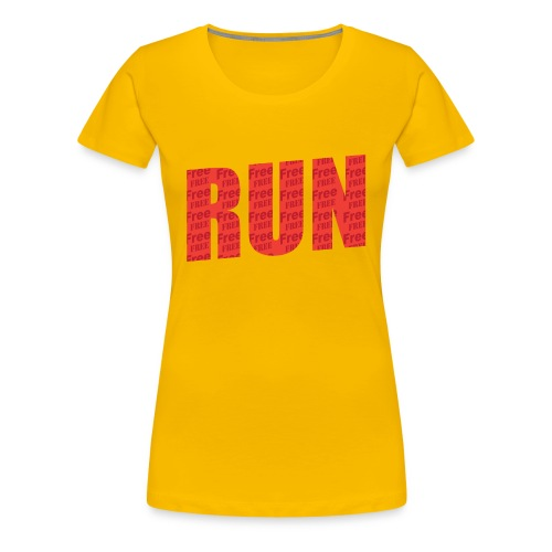 Run Free  - Women's Premium T-Shirt