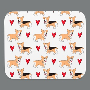 Repeating Duo Corgs Mousepad - Mouse pad Horizontal