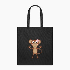 female monkey with flower Bags & backpacks