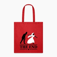 game over bride and groom wedding stag night end Bags & backpacks