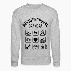 Multifunctional Grandpa (9 Icons) Long Sleeve Shirts