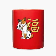 Maneki Neko (Calico) - Full Colour Mug, ver. 1