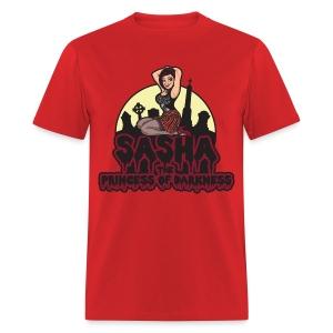 Sasha the Princess of Darkness Full Collor Logo - Men's T-Shirt