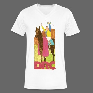 Vintage Detroit Race Course - Men's V-Neck T-Shirt by Canvas
