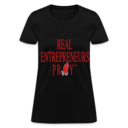Ladie's REP Tshirt (Black/Red/Metallic Silver) - Women's T-Shirt