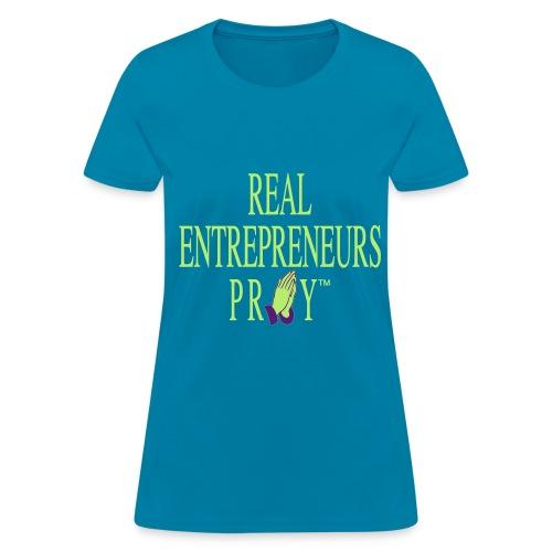 Ladie's REP Tshirt (Turquoise/Lime/Purple) - Women's T-Shirt