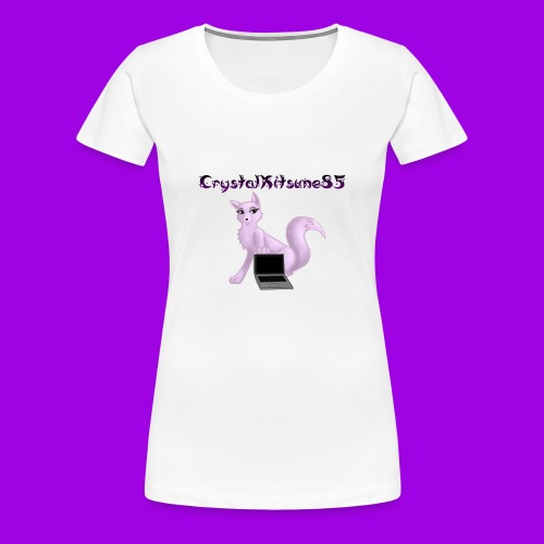 Crystalkitsune85's Woman's Fan T-Shirt(White) - Women's Premium T-Shirt