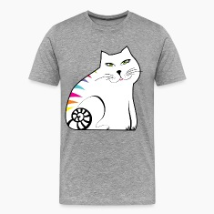 Colorful white cat T-Shirts