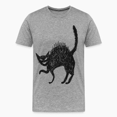 Line art painted cat T-Shirts