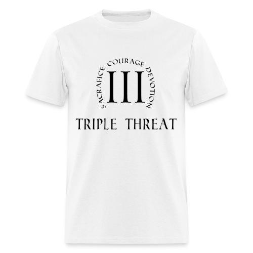 Triple Threat Emblem (Black Font) - Men's T-Shirt