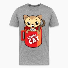 Little cat in a mug cartoon T-Shirts