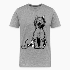 Cat meow clip art T-Shirts