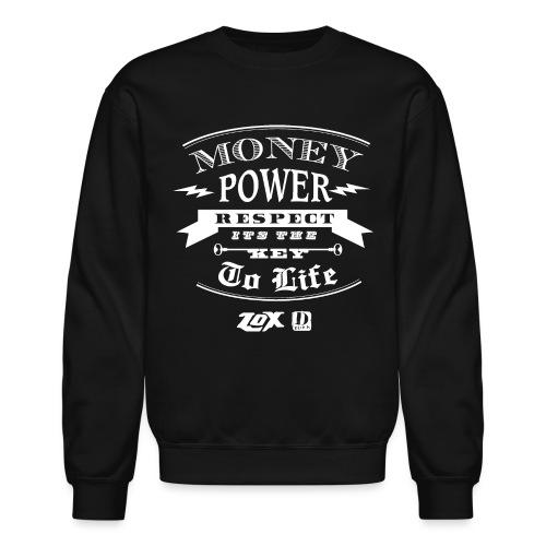 moneypowerrespectwhite - Crewneck Sweatshirt