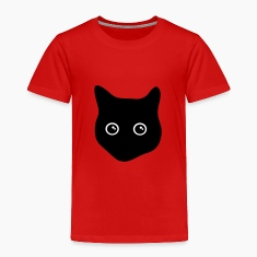 cat, black cat, cat face Baby & Toddler Shirts