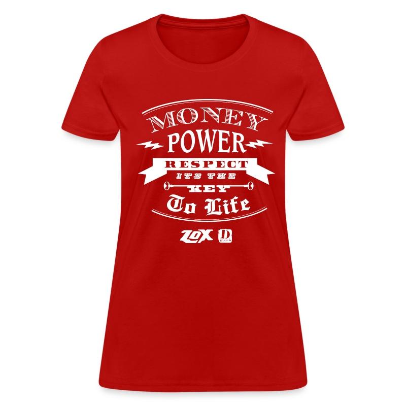 moneypowerrespectwhite - Women's T-Shirt