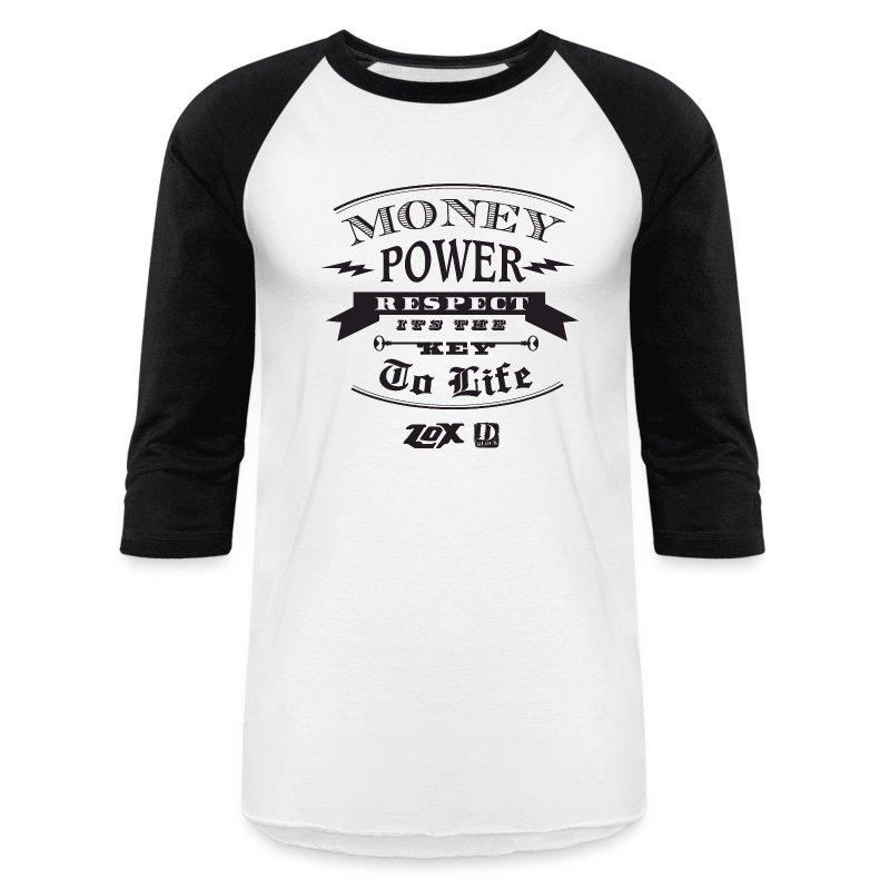 moneypowerrespectblack - Baseball T-Shirt