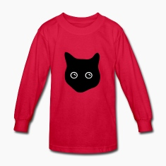 cat, black cat, cat face Kids' Shirts