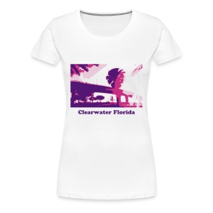 Clearwater Bridge Beach - Women's Premium T-Shirt