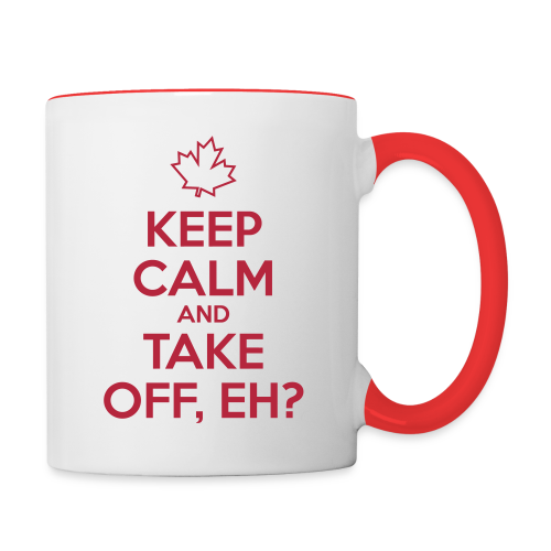 Keep Calm and Take Off, Eh? - Contrast Coffee Mug