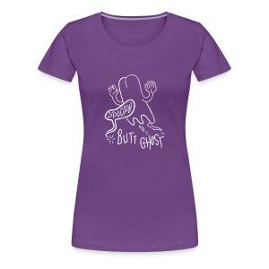 Butt Ghost (White) - Women's Premium T-Shirt