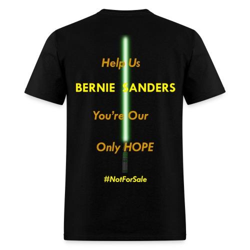 Men Bernie Sanders Stars Wars Shirt (Back Graphic) - Men's T-Shirt