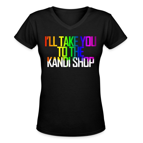 Kandi Shop Tee - Women's V-Neck T-Shirt