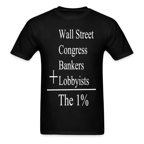 The One Percent: White Lettering - Men's T-Shirt