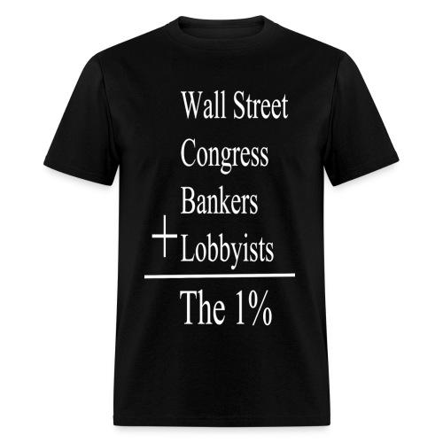 The One Percent: White Lettering - Men's T-Shirt