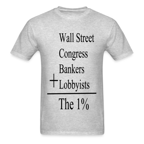 The One Percent: Black Lettering - Men's T-Shirt