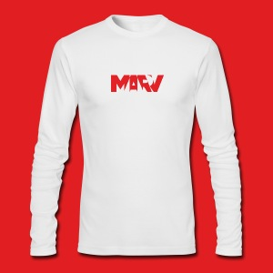 Marv Type Red Long Sleeve - Men's Long Sleeve T-Shirt by Next Level