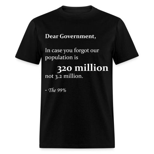 Dear Government - Men's T-Shirt
