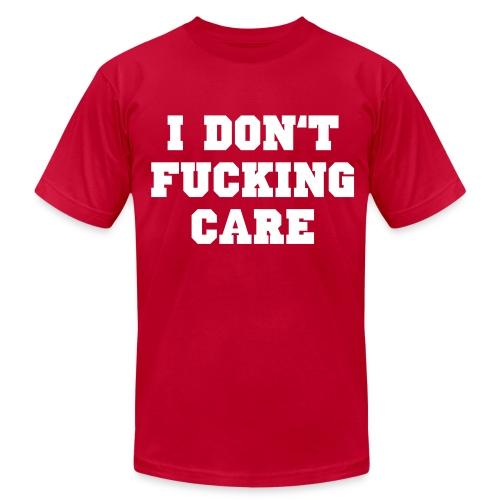 I don't fucking care - Men's Fine Jersey T-Shirt