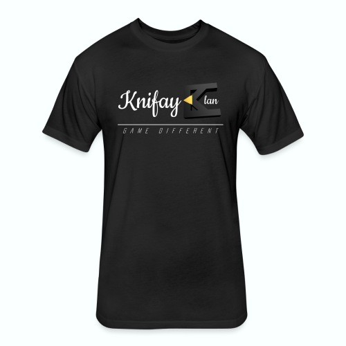 KCOS- Mens Black Shirt - Fitted Cotton/Poly T-Shirt by Next Level