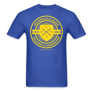 Historically Black - Men's Royal Blue and Gold T-shirt - Men's T-Shirt