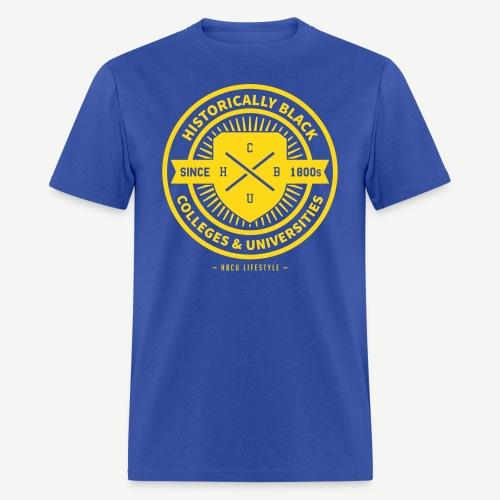 Historically Black - Men's Royal Blue and Gold T-shirt - Men's T-Shirt