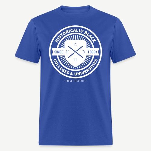 Historically Black - Men's Royal Blue and White T-shirt - Men's T-Shirt