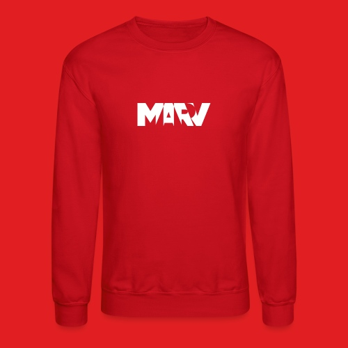 Marv Type White Crewneck - Crewneck Sweatshirt